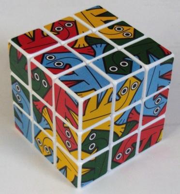 3x3x3 - Les images des faces sont inspirées d'une gravure d'Escher