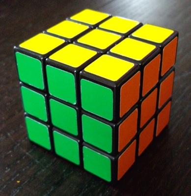 3x3x3: Mon DIY noir type A II. Acheté spécialement pour le speedcubing.