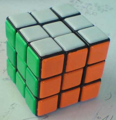 3x3x3: Mon premier cube. Peu fonctionnel, mais c'est celui sur lequel j'ai appris une bonne partie des bases.