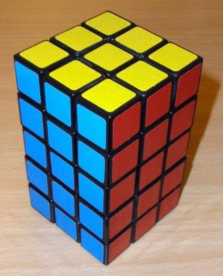 * 3x3x5 fonctionnel - Fabriqué à partir d'un crazy 3x3x3: une merveille!